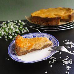 Veganer Milchreis-Kuchen glutunfrei ohne Soja fettarm gesund