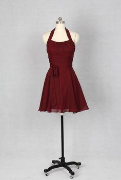 Halter+Bridesmaid+Dress+Chiffon+Bridesmaid+Dress+by+harsuccthing,+$86.66