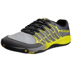 Merrell-All-Out-Fuse-Mens-Running-Shoes-Castle-Rock-Yellow