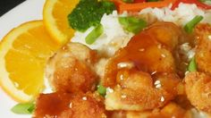 Enjoy delicious citrus chicken marinated in lemon and orange juice with brown sugar, vinegar, soy sauce, garlic, and ginger. It's terrific served with rice.
