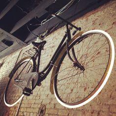 Custom neon light wheels. Houndstooth Road Bicycle Shop - Decatur, Georgia