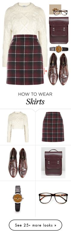 """""""Snapmade #29"""" by oliverab on Polyvore featuring DKNY, The Cambridge Satchel Company, ZeroUV, preppy, plaid, fallsweaters and snapmade"""