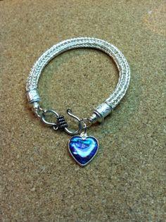 Christine Witt; woven sterling Viking Knit bracelet.  mtcontempo.com