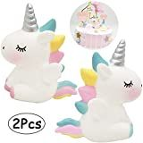 Unicorn Cake Decorations 2 Pcs Unicorn Cake Toppers Kids Unicorn Birthday Party Accessories Favors Cute Angel Wings Unicorn Cupcake Topper Set Toys for Baby Shower Wedding Party Supplies Blue & Pink Unicorn Cake Decorations, Unicorn Cupcakes Toppers, Unicorn Cake Topper, Cute Cupcakes, Unicorn Ornaments, Birthday Cake Decorating, Unicorn Birthday Parties, Party Accessories, Wedding Cake Toppers