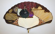Fan  Date: ca. 1917 Culture: European (probably) Medium: ivory, cotton Dimensions: Length: 8 3/4 in. (22.2 cm)