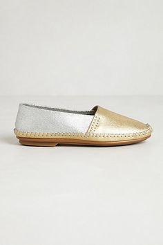 Jacques Levines Davies moccasins in gold