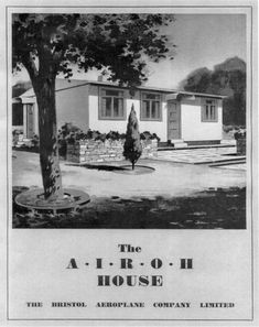 Our prefab was like this. Temporary Housing, Liverpool History, Plan Front, Pine Floors, Front Elevation, Old London, Window Frames, Prefab Homes, Bristol