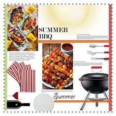"""""""Summer BBQ"""" by lifeisworthlivingagain ❤ liked on Polyvore featuring interior, interiors, interior design, home, home decor, interior decorating, Crate and Barrel, Bodum, LSA International and Menu"""