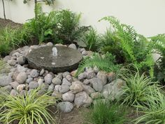 Water Feature Ideas for Small Gardens . Water Feature Ideas for Small Gardens . Garden with Cute Wood Pergola Idea Feat Modern Small Pond Small Backyard Ponds, Backyard Water Fountains, Small Water Fountain, Backyard Water Feature, Garden Fountains, Small Backyards, Stone Water Features, Small Water Features, Outdoor Water Features