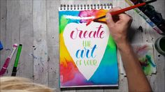 Brushlettering and watercolor Tutti Meloettie