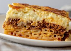 Greek Cuisine: Most Preferred Dishes Greek Lasagna, Lasagna Pan, Greek Pastitsio, Greek Dishes, Main Dishes, Side Dishes, Greek Recipes, Easy Recipes, Healthy Recipes