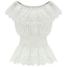 White Off Shoulder Crochet Lace Overlay Waisted Blouse (160 SEK) ❤ liked on Polyvore featuring tops, blouses, shirts, blusas, white, white blouse, off-the-shoulder blouses, white off the shoulder shirt, white off shoulder blouse and white shirt blouse