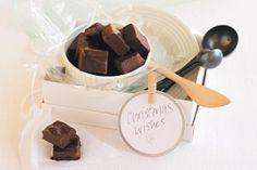 Rum & raisin chocolate fudge squares
