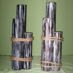 we could easily make these from carpet tubes and rope.