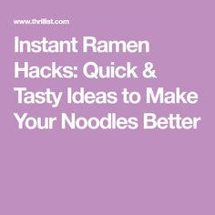 Instant Ramen Hacks: Quick & Tasty Ideas to Make Your Noodles Better Ramen Noodle Recipes, Ramen Noodles, Pasta Recipes, Soup Recipes, Recipies, Lunch Recipes, Delicious Recipes, Dinner Recipes, Tasty