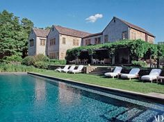 The home's vine-covered loggia and swimming pool.