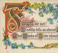 Embossed Vintage Postcard Forget-me-Nots and by TheOldBarnDoor