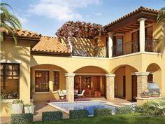 room under 2nd story deck mediterranean | Mediterranean House Plans : DHSW53146