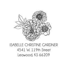 Linework Floral Custom Address Stamp-SELF INKING #InkStamp #ReturnAddressStamp #PersonaliseStamp #StampAddress #PersonalizeStamp #WeddingStamp #SelfInkStamp #ReturnStamp #CustomAddressStamp #AddressStamp