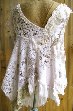 Gypsy Swan hand pieced tunic
