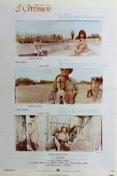 Two roommates/physical therapists, one a vain woman and the other a mysterious teenager, share a bizarre relationship. Directed by: Robert Altman Starring: Shelley Duvall, Sissy Spacek, Janice Rule Music by: Gerald Busby Release date: April 1977 Robert Altman, Sissy Spacek, Cult Of Personality, Good Movies, Home Art, I Movie, Indie, Movie Posters, Women