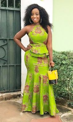 Modern kaba and slit style, African fashion, Ankara, Kitenge, African women . African Fashion Ankara, Ghanaian Fashion, Latest African Fashion Dresses, African Dresses For Women, African Print Dresses, African Print Fashion, Africa Fashion, African Attire, African Wear
