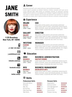 Creative Examples Of Free Resumes Psd  Career