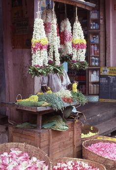 South India...I actually received several of these flower garlands. They smell amazing and I was honored.