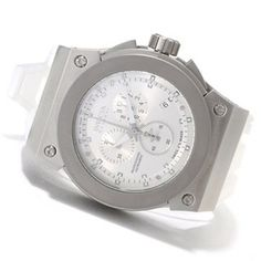 Invicta Reserve Mens Akula Swiss Made Quartz Chronograph Silicone Strap Watch w/8-Slot Dive Case