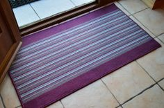 PURPLE SILVER GREY STRIPE MACHINE WASHABLE NON SLIP RUBBER BACKING HALL KITCHEN UTILITY ENTRANCE DOOR RUG LONG NARROW RUNNER MAT CARPET **5 SIZES AVAILABLE** (50 X 66 CMS) by RUGS 4 HOME, http://www.amazon.co.uk/dp/B00DO3PYO2/ref=cm_sw_r_pi_dp_dI.8sb0AYE7FP
