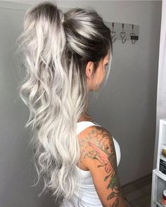 icy blonde hair with dark roots short hairstyles \ icy blonde hair dark roots short hairstyles . icy blonde hair with dark roots short hairstyles Hot Hair Colors, Ombre Hair Color, Cool Hair Color, Balayage Color, Blonde Hair With Color, Sombre, Teen Hair Colors, Ombre Rose, Different Hair Colors