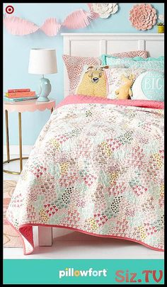 Your kiddo can create their own secret garden with freshly picked pieces from Pillowforts Floral Field collection. From mix-and-match floral-print bedding and floral wall art to graphic pillow and cute animal friends in the form of pillows and table la Preteen Bedroom, Girls Bedroom, Master Bedroom, Bedrooms, Bedroom Furniture, Bedroom Decor, Bedroom Ideas, Bedroom Colors, Furniture Ideas