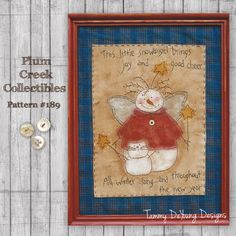 Primitive Stitchery Snowman Embroidery Pattern #189