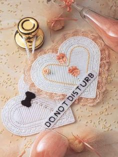 Wedding Hearts Start-to-finish in less than 6 hours. Designed by Florence Garner… Christmas Gift Baskets, Christmas Crafts For Gifts, Annie's Crochet, Crochet Crafts, Plastic Canvas Crafts, Plastic Canvas Patterns, Canvas Designs, Heart Patterns, Wedding Gifts