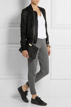 Rag & bone - Charlize cashmere and wool-blend track pants