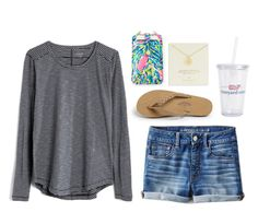 """""""Seriously missing my family right now"""" by classygrace ❤ liked on Polyvore featuring Rainbow, Madewell, American Eagle Outfitters, Vineyard Vines, Lilly Pulitzer and Kate Spade"""
