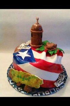 Puerto Rico fondant cake.
