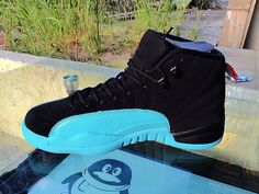 Men's Air Jordan Retro 12 AJ12 Jordan 12 Basketball Shoes Gamma Blue