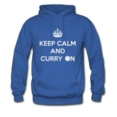 Keep Calm and Curry On Men's Hoodie  https://shop.spreadshirt.com/RunningAndTriathlon/keep+calm+and+curry+on-A105102161