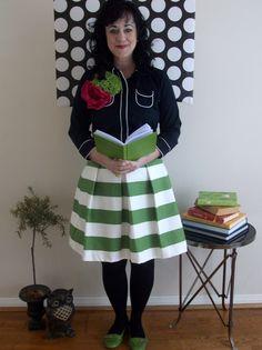 Children's Striped Katie Skirt 25 waist and by SandeeRoyalty