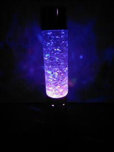 A glitter lamp