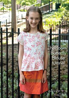 Learn how to add entredeux and pintucking to the Butterfly Blouse.