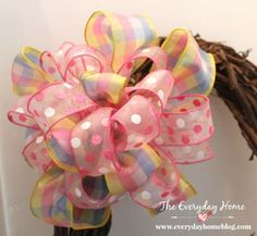 how to make a double ribbon bow like a pro, crafts, seasonal holiday d cor, wreaths, This is the final bow after the second ribbon has been attached So what is my secret