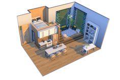 Lotes The Sims 4, Sims Four, Sims Cc, Sims 4 House Plans, Sims 4 House Building, Sims 4 Houses Layout, House Layouts, Sims 4 Loft, Muebles Sims 4 Cc