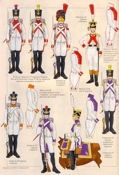 French White Uniforms 1806 Campaigns II Military Units, Military Art, Military History, Army Uniform, Military Uniforms, First French Empire, French Army, Mystery Of History, Napoleonic Wars