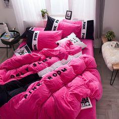 Shop Victoria's secret pink bedding sets queen king sizes bed. Browse latest range of unique Victoria's secret comforter sets. Pink Bedding Set, Boho Bedding, Queen Bedding Sets, Luxury Bedding, Romantic Bedding, Indian Bedding, Bedding Decor, Unique Bedding, Modern Bedding
