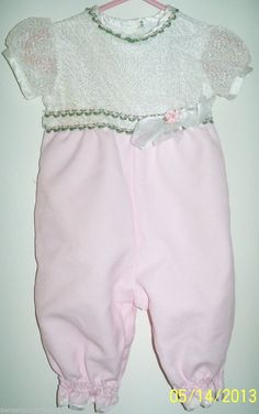 Baby Boutique Girls Romper Rose Cottage Great for Photo Taking SIZE 6 9 mths Girls Boutique, Baby Boutique, Penny Auctions, Rose Cottage, Girls Rompers, White Shorts, One Piece, Best Deals, Clothes
