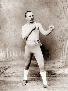 picture from 1885 of undefeated lightweight prizefighting champion George La Blanche.