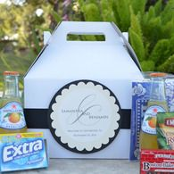 Black and White Wedding Welcome Boxes