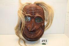 false face masks | 493: Mohawk False Face Society Mask : Lot 493